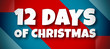 canvas print picture - 12 Days Of Christmas - text written on colourful background