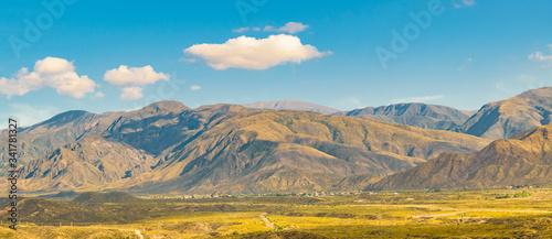 Aerial Landscape Scene, Mendoza, Argentina Canvas Print