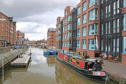 Gloucester Docks Canal Basin, England Fototapeta