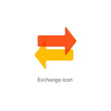 Exchange Arrow Icon, Reverse Swap Vector Switch Flip. Exchange Data Symbol Icon