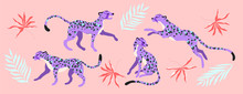 Purple Leopard Animals And Tro...