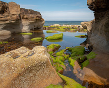 Tidal Pool And Rock Formations...