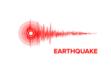 Earthquake Seismic Wave Vector Graphic Illustration With Copy Space