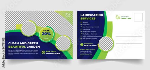 Fototapeta Postcard or Eddm postcard design template