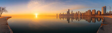 Panoramic Chicago Skyline City...