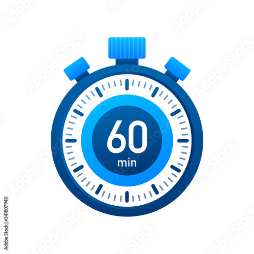 Photographie The 60 minutes, stopwatch vector icon