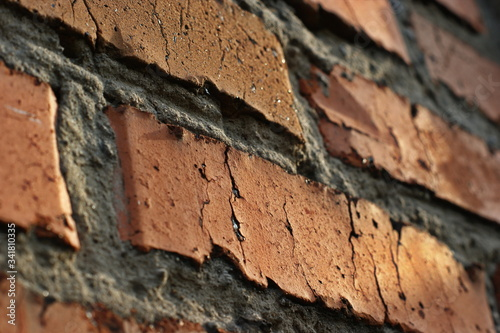 Texture of a brick wall with concrete joints Canvas Print