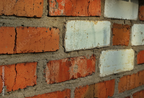 Texture of a brick wall with concrete joints Wallpaper Mural