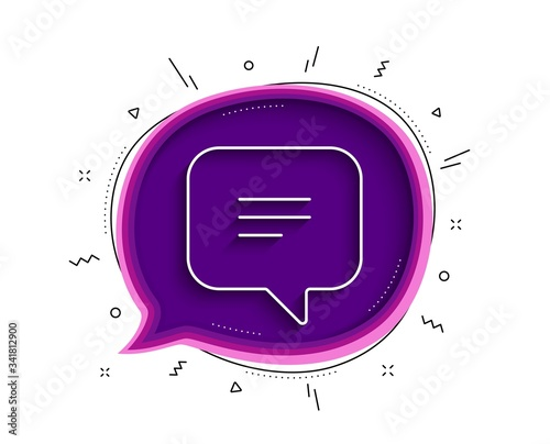Text message line icon Canvas