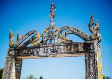 Entrance To Wat Khon Tai Buddhist Temple On Don Det, Four Thousand Islands, Si Phan Don, Laos, Southeast Asia