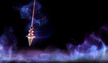 Esoteric And Hypnosis Concept - Pendulum Swinging With Magic Smoke