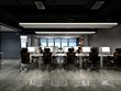 3d render of modern office interior meeting room