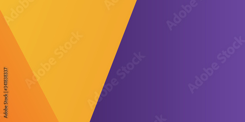 Modern 3d orange yellow purple abstract background with lines and square shape gradation color. Vector illustration design for presentation, banner, cover, web, flyer, card, poster, wallpaper, texture