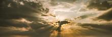 Panorama Of Sun Breaking Throu...