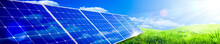 Banner Of Solar Panels In Gree...