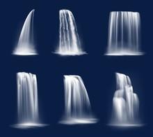 Waterfall Cascade, Realistic W...