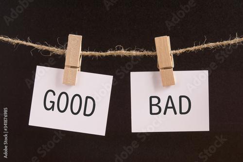 Leinwand Poster GOOD or BAD