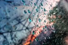 Full Frame Shot Of Wet Tiled Floor