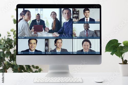 Foto Video conference concept