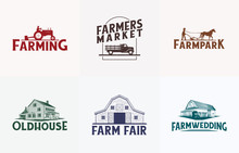 Farm Logo Vector Icon Bundle