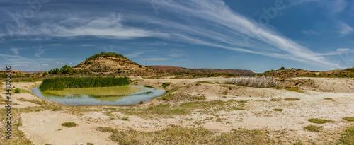 Fototapeta Landschaft in der Halbwüste Bardenas Reales in Navarra