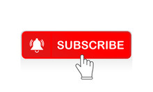 Red Subscribe Button With Mous...