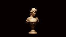 Lady Sculpture White Cream Bone Color 3d Illustration 3d Render