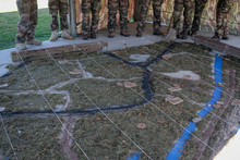 Soldiers In A Camp Preparing With A Big Map The Amphibious Bold Alligator Exercise Organized By The US Navy And The Marine Corps On The East Coast Of The United States At Camp Lejeune