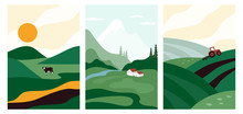 Vector Illustrations With Farm...