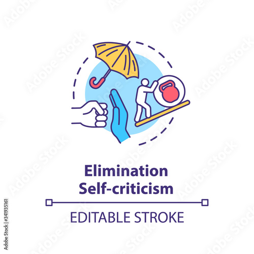 Fotografija Self criticism elimination concept icon