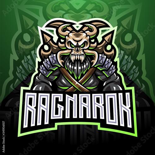 Fotografía Ragnarok esport mascot logo design