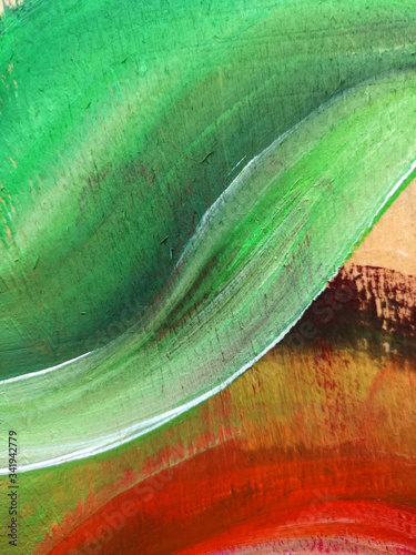 Photo Acrylic leaf abstraction background art