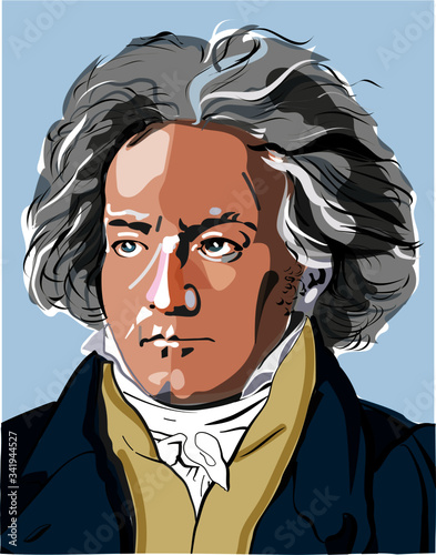 Photo Ludwig van Beethoven vektorportrait
