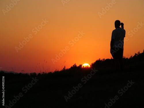 Zachód słońca włochy