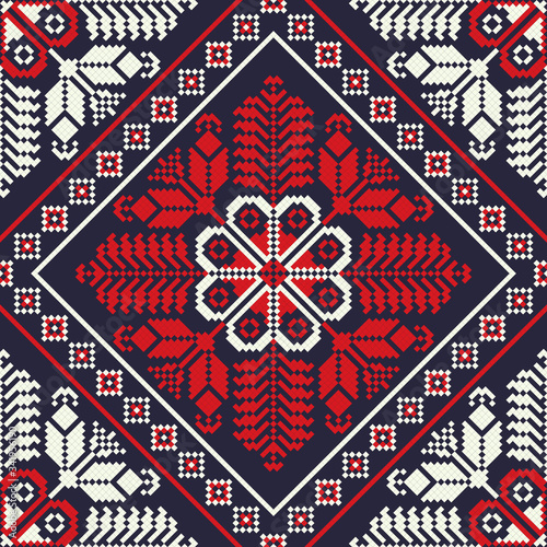 Obraz na płótnie Romanian traditional pattern 22