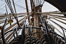 Low Angle View Of Tall Ship Ri...