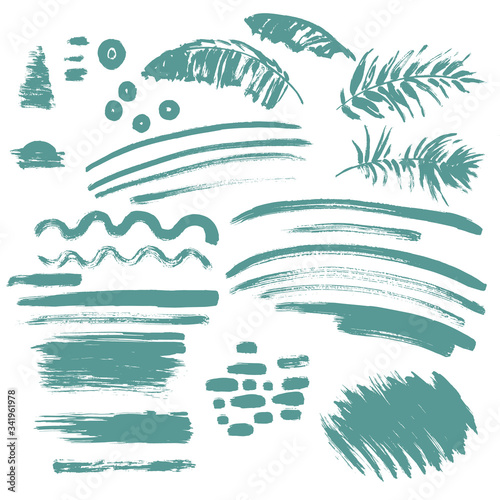 Seamless tropical pattern with palm leaves Wall mural