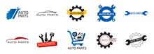 Vector Logo Of Car Parts, Auto...