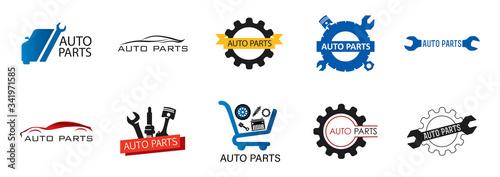 Vector logo of car parts, auto repair Canvas Print
