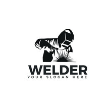 Welding Company Logo Design, WELDER LOGO SIMPLE AND CLEAN LOGO