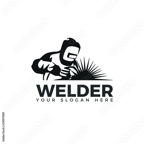 Welding Logo Industrial Logo Welder Logo Simple And Clean Logo Buy This Stock Vector And Explore Similar Vectors At Adobe Stock Adobe Stock