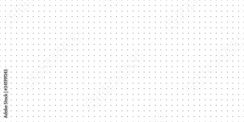 Fotografie, Tablou Horizontal seamless vector black dots on white background