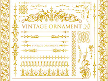 Set Of Decorative Elements For...