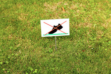 Do Not Walk On The Lawn