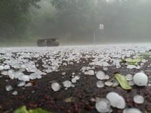 Hailstone On Road