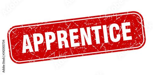 apprentice stamp. apprentice square grungy red sign Canvas Print