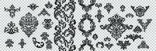 Vintage Baroque Frame Scroll O...