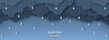 Overcast Sky With Rain Drops I...