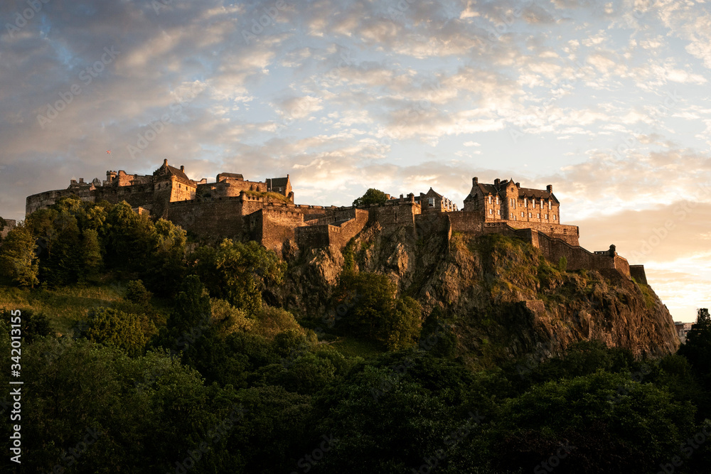 Fototapeta edinburgh castle scotland