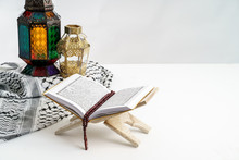 Holy Quran And Arabic Lantern ...